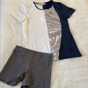 Stella McCartney for Adidas top and shorts